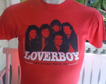 Size M- (40) ** 1982 Loverboy Concert Shirt (Single Sided) (Deadstock Unworn)
