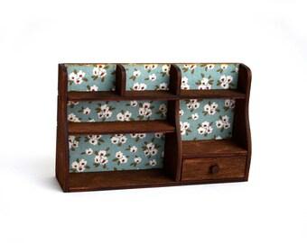 Shelf on the table for doll size 1/6, 1/4 (BJD MSD, momoko, blythe, obitsu, volks, unoa, barbie, fashion doll, azone, furniture)