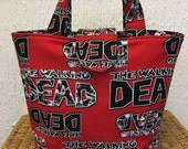 The Walking Dead reversible tote bag  zombie gift for her