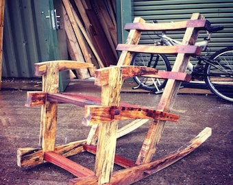 Japanese Inspired Handcrafted Rocking Chair