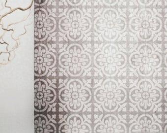 VALENCIA Tile Stencil - Mediterranean Spanish Moorish Wall Furniture Floor Craft Stencil - VA001
