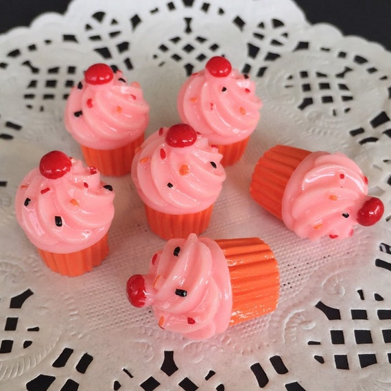 3pcs.14x21mm.Miniature Cabochon Cupcakes,Miniature Cupcakes,Cabochon,Resin,Miniature Sweet,Mobile Accessories,Miniature