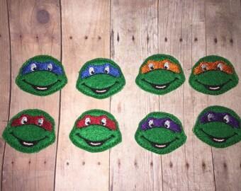 RTS 8 Teenage Mutant Ninja Turtle TMNT Feltie Felt Embellishment Bow! Birthday Party Donatello Leonardo Michaelangelo Raphael