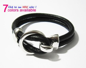5pcs Open Hook Clasp 5mm Round leather clasp Hand polish 10x5mm Open hooks