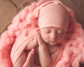 Chunky blanket S - Heather -  Blanket Photo prop  - newborn Basket filler - Toddler Portrait