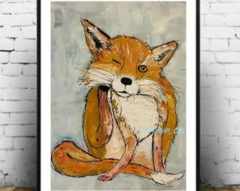 "The Fox ""Itch"" Art print painting"