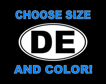 Delaware Decal Delaware Car Decal State State Decal Sticker Home State Decals DE Bumper Sticker Laptop Window Wall Tablet etc.. DE Decal