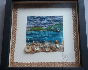 The Shore textile art piece