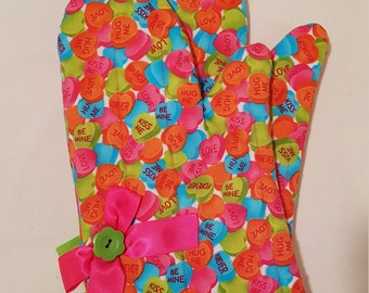 Sweet as Candy Oven Mitts