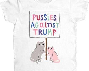 Pussies Against Trump -- Women's T-Shirt
