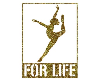 For Life Dancer Leap Iron On Decal