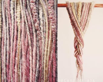 Cotton Candy accent kit synthetic dreads