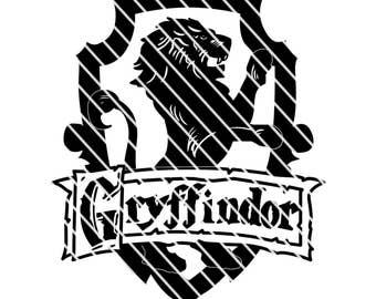 Harry Potter Gryffindor  Crest - Simple SVG file