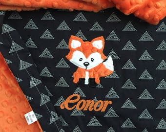 Fox Baby Blanket | Personalized Fox Baby Blanket | Woodland Baby Blanket | Fox Blanket | Woodland Blanket