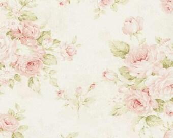 3-Sided Crib Skirt - Shabby Chic Roses