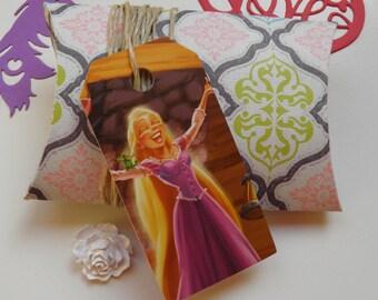 Tangled, 10 gift tags, Handmade, Disney, Tangled labels, Tangled gift tags, Disney labels, Disney gift tags, Paper ephemera, #286