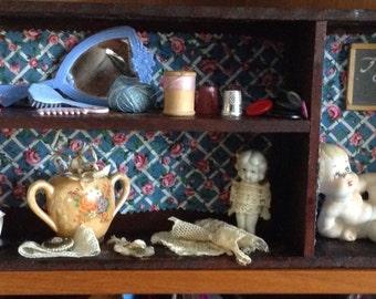 Vintage Handmade Shadow Box Doll Collectibles