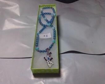 Kids Frozen Character Necklace / Bracelet Set