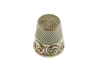 Stering Silver and 14K Gold Thimble