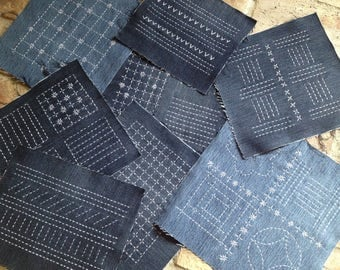 Sashiko / Recycle / Reuse / Decorative cloth / Simple / Old jeans