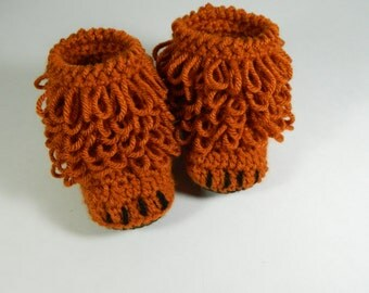 Paw booties, fox booties, paw slippers, paw baby booties, fox baby booties, woodland animal, baby paw, bear booties, baby animal slippers