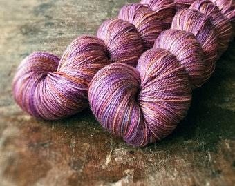 AGED BLOOM pure silk lace, lace yarn, knitting, crochet, yarn