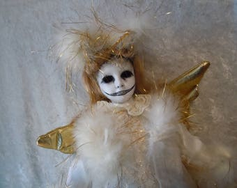 Angel of Death  Fallen Angel  Creepy Doll #74  Dark Art  Horror Collectible Day of the Dollies