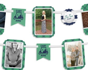 Golf Photo Garland Banner - Par-Tee Time - Golf Baby Shower or Birthday Party Photo Garland Banner - Party Decorations
