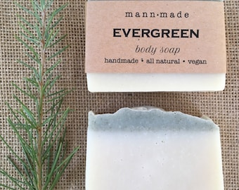 Evergreen Soap- Pine, Fir Needle, Cypress and Rosemary, All Natural, Body Soap