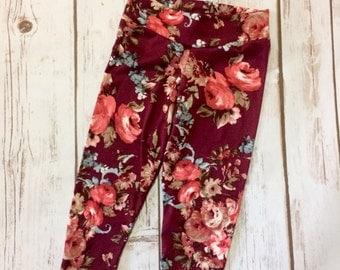 Floral leggings set, Girls leggings