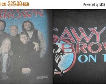 On Sale 25% Off Rare Vintage SAWYER BROWN Tour Concert T Shirt 1990s