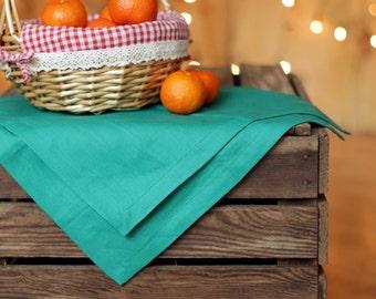 Green dinner napkins, Linen napkins, 12 14 16 18 kitchen napkins, linen table cloth, tablecloths, green table napkins, dish cloth linen