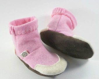 Slipper Boots- Kids Pajamas- Boho Toddler- Baby Boots- Toddler Shoes- Pink Slippers- Modern Baby Gift- Toddler Slippers- Kids Birthday Gift
