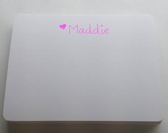 MISPRINT - Name Note Cards - Bright Pink Foil - 36pk (MP-NC9-F)