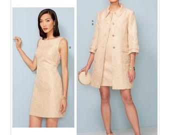 Vogue Pattern V1537 Misses' Princess Seam Jacket and V-Back Dress with Straps