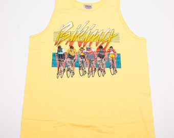 Vintage 80s Cycling Tank Top