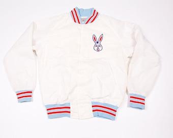 Vintage Bunny 80s Baseball Bomber Jacket