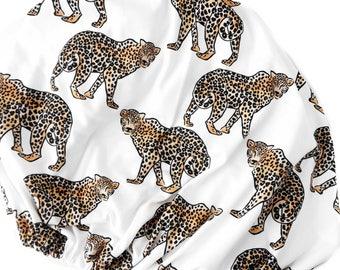 Organic Changing Pad Cover Leopard, Safari Bedding, Organic Bedding, Baby Boy, Gender Neutral, Modern Nursery, Safari Nursery, Baby Gift