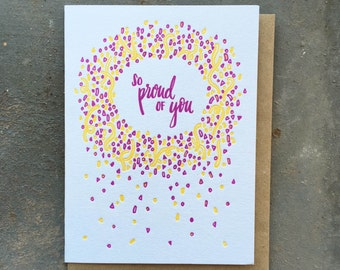 So Proud Of You Confetti Greeting Card