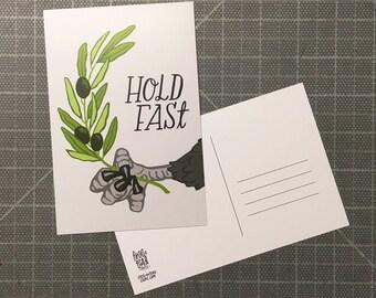 Hold Fast Eagle Postcard