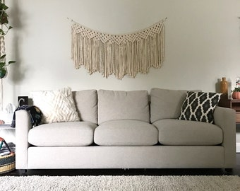 Macrame Patterns/Macrame Pattern/Large Macrame Wall Hanging Pattern/Modern Macrame/Garland/Name: Clove Hitch and 6 Diamonds