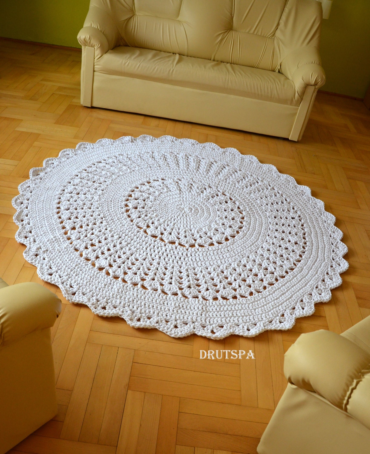 Promotion many colors shabby chic doilies carpets nursery rug for Tapis shabby chic