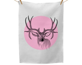 Deer Love Tea Towel