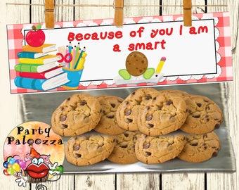 Printable Teacher Appreciation treat bag topper/smart cookie