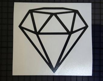 Geometric Diamond Decal - Outline Design - 16 Colors & Multiple Sizes