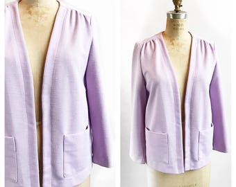 Lilac open front slouchy cardigan. Size M/L.