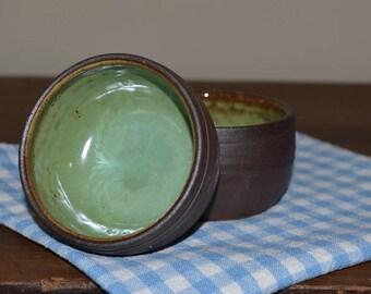 dipping bowls, prep bowls, pottery bowls, green pottery, snack bowls, rice bowls