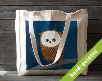 Owl Purse, Owl Gifts/ Owl Bag, Canvas Bag, Owl Art, Owl Tote, Owl Decor, Eco Bag, Cotton Tote Bag, Animal Tote, Animal Tote Bag