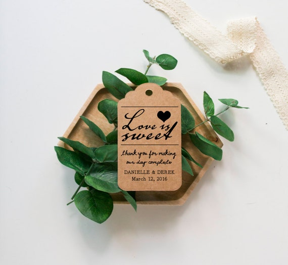Love Is Sweet Wedding Gift Tags : Love is Sweet wedding favor tags, personalized tag, jam favor tags ...