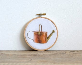 Copper Pot - Hoop Art Wall Decor